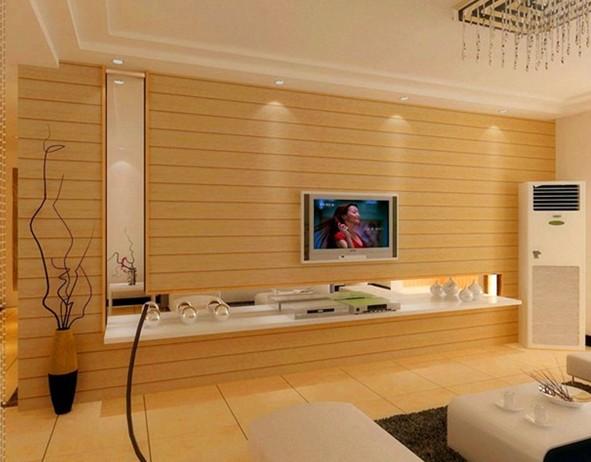 用生态木做电视背景墙是很常见的现象,想知道为什么要使用生态木做背景墙吗?我们来给大家简单的解释一下。 生态木电视背景墙具有很好的吸音效果,可以有效的降低电视造成的回音,提高视听感受,而普通的墙面不具备这个功能,会有一些回音,虽然比较短的,但多少会有点影响,特别是在使用家庭影院的时候更是明显。 生态木电视背景墙,在色彩选择的时候,最好不要选择比较显眼的色调,这类色调会影响看电视的视觉效果。生态木(木塑)的颜色和实木基本没什么区别,用它做的背景墙颜色可以自主选择,且有很多暗色系列的墙板,暗色调的墙板背景,可
